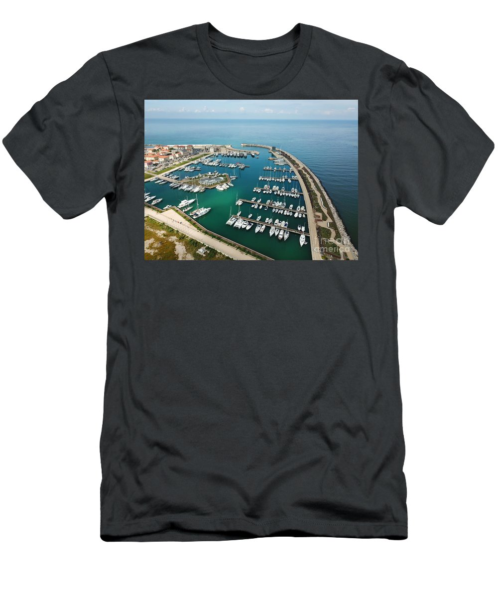 Pisa Men's T-Shirt (Athletic Fit) featuring the photograph Port Di Pisa by Raynor Garey