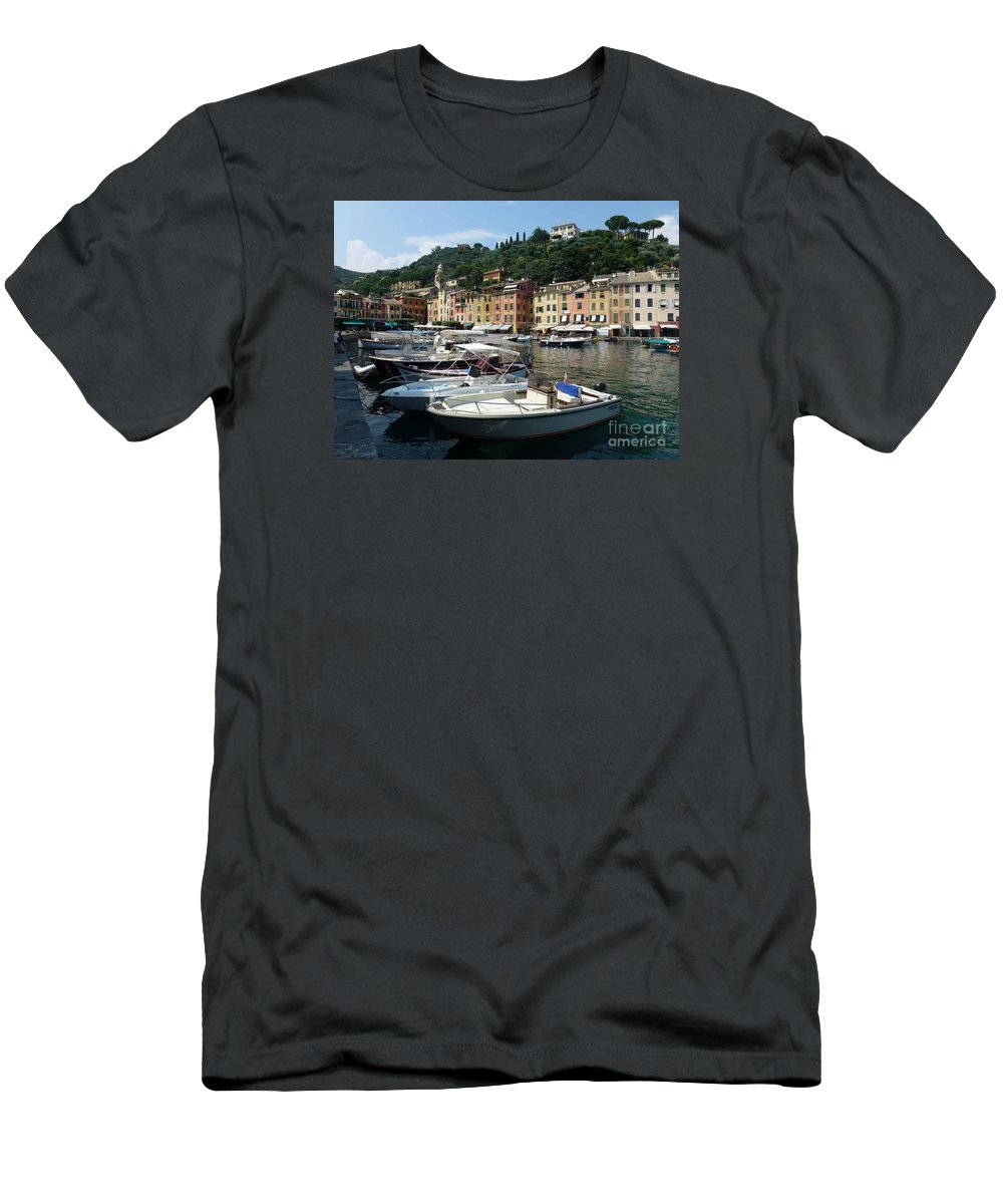Portofino Men's T-Shirt (Athletic Fit) featuring the photograph Portofino by White LensNZ