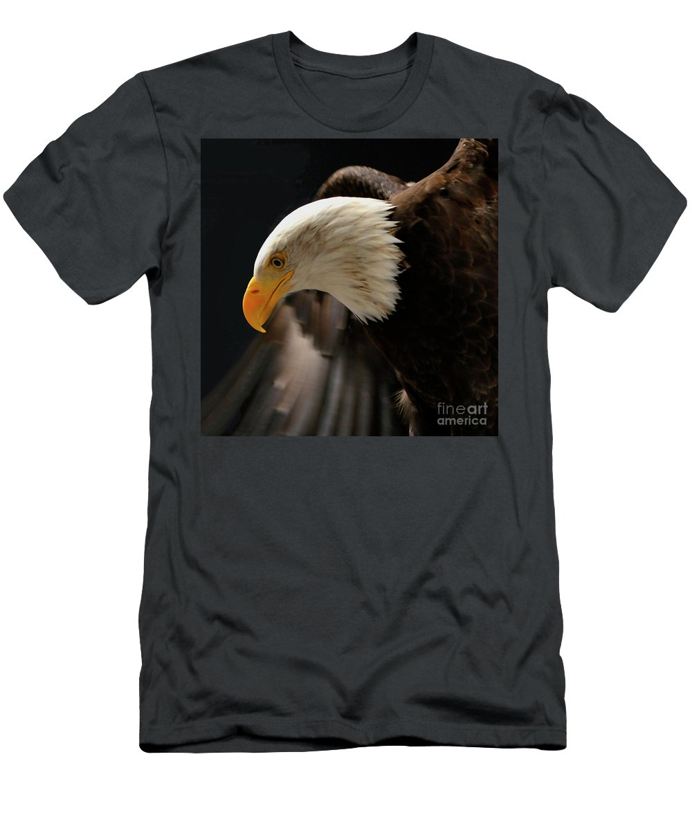 Wild Life Men's T-Shirt (Athletic Fit) featuring the photograph Portrait Of A Bald Eagle by Franco Valentini