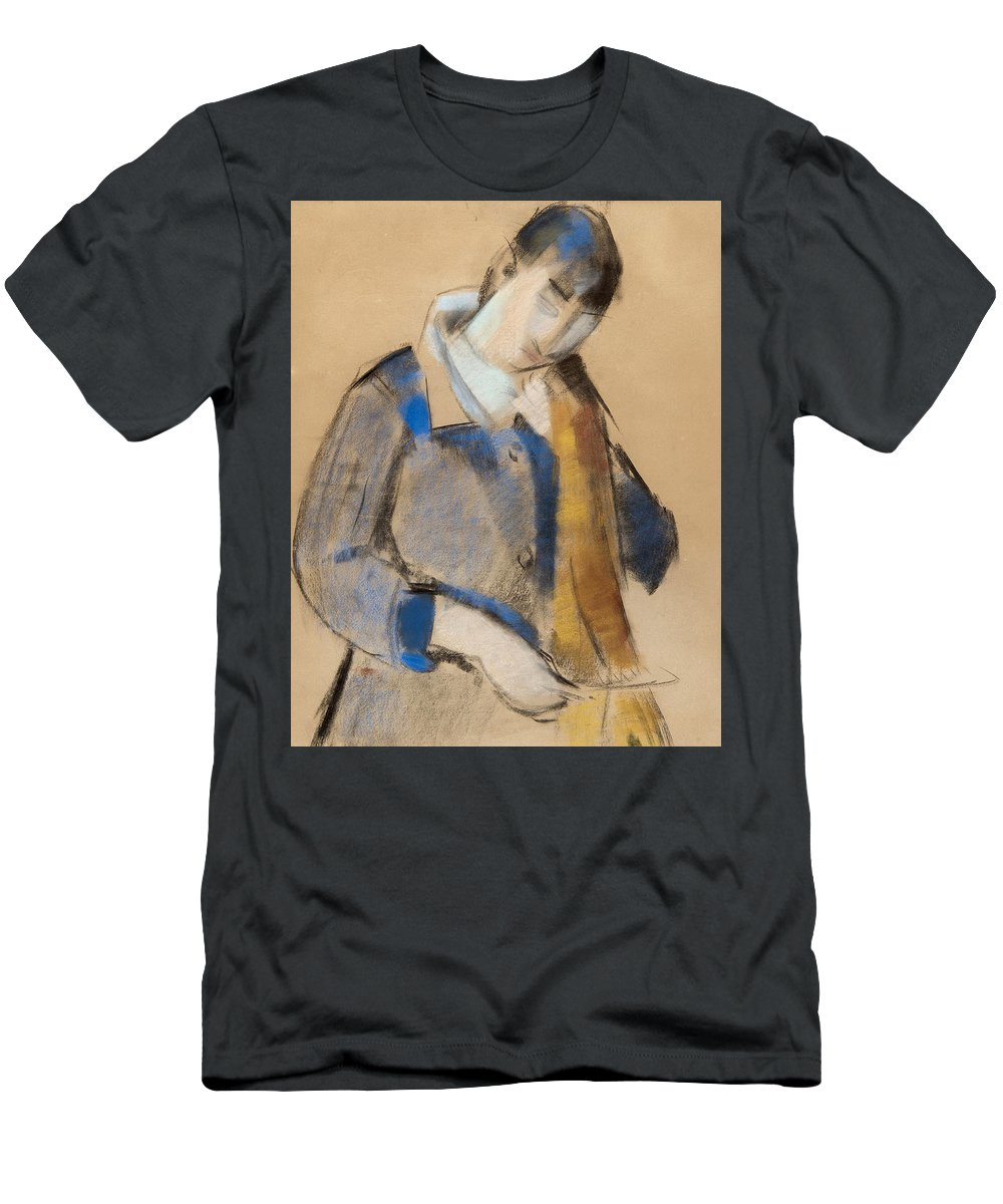 Rik Wouters Men's T-Shirt (Athletic Fit) featuring the painting Portrait Of A Young Woman Combing Her Hair by Rik Wouters