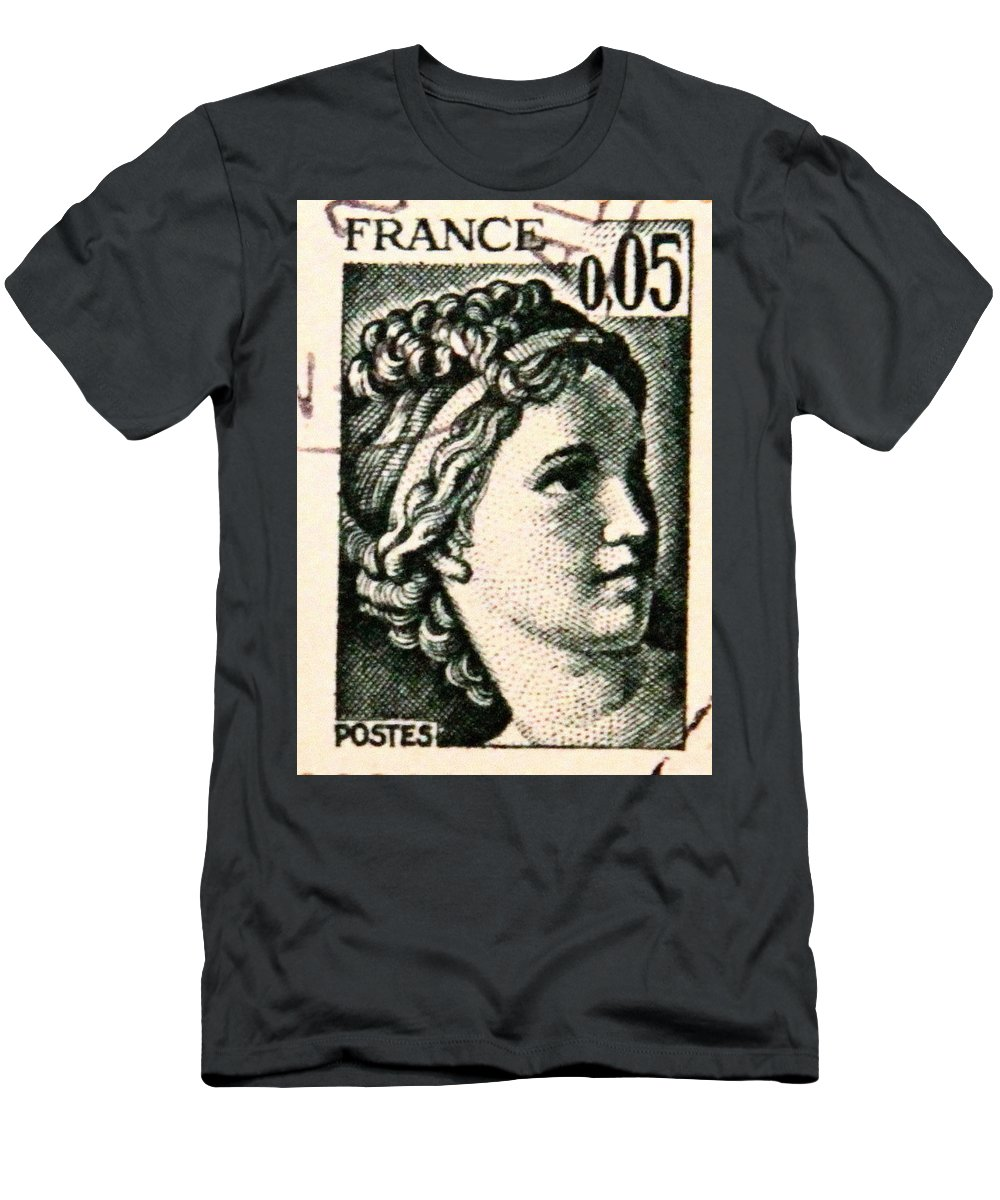 Stamp Men's T-Shirt (Athletic Fit) featuring the photograph Postage 11 by Kevin F Cook