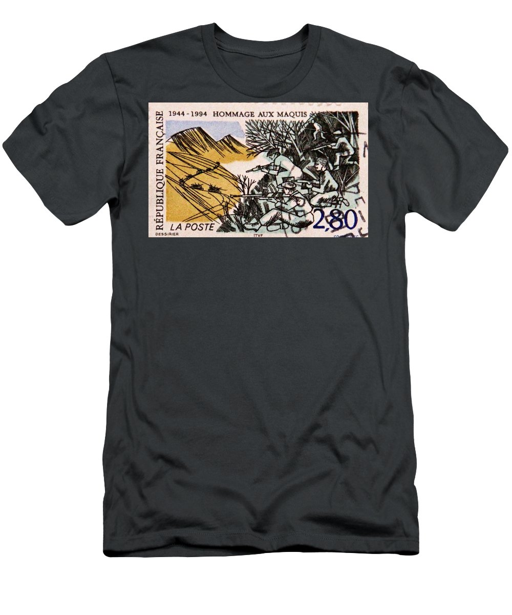 Stamp Men's T-Shirt (Athletic Fit) featuring the photograph Postage 6 by Kevin F Cook