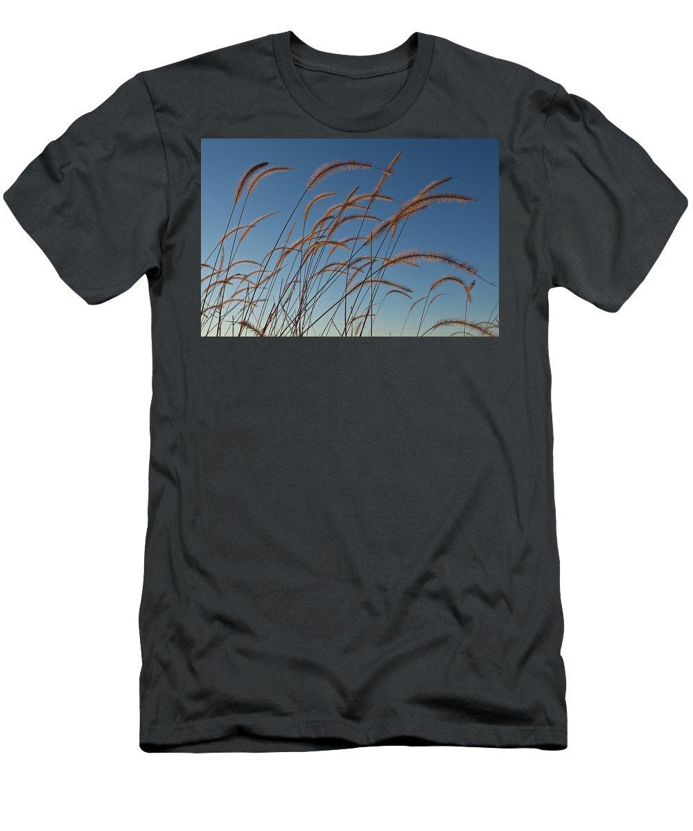 Native Men's T-Shirt (Athletic Fit) featuring the photograph Prairie Grass Landscape by Steve Gadomski