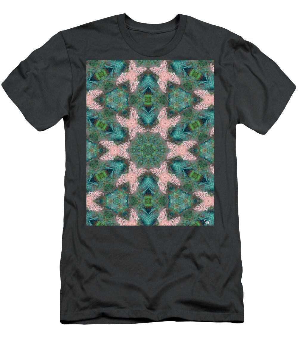 Acrylics Men's T-Shirt (Athletic Fit) featuring the mixed media Praying For Peace by Maria Watt