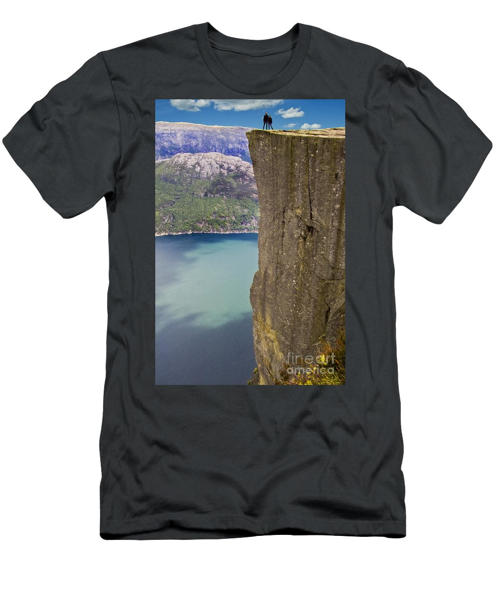 Europe Men's T-Shirt (Athletic Fit) featuring the photograph Preacher's Pulpit by Heiko Koehrer-Wagner