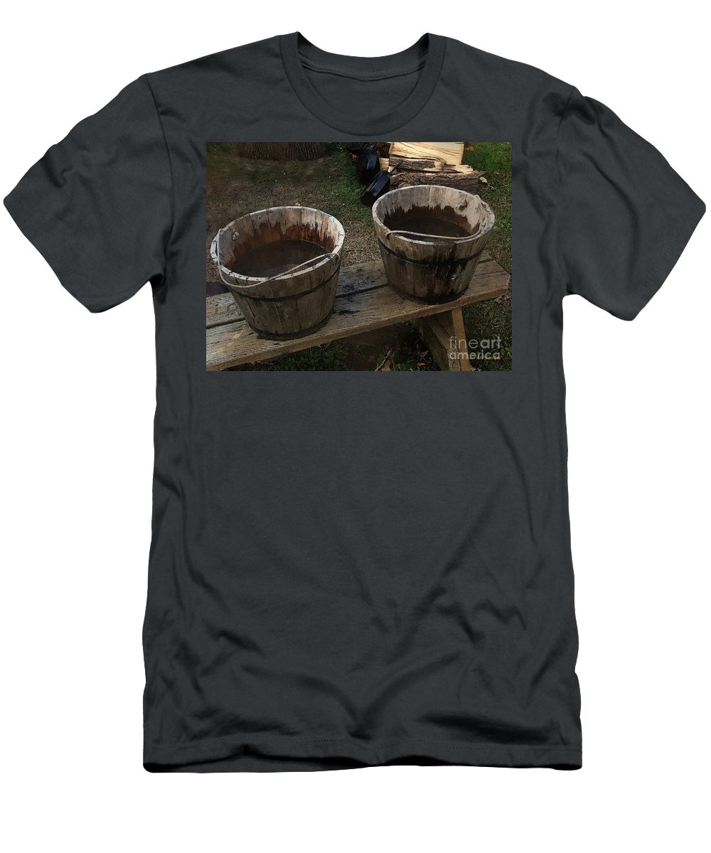Bench Men's T-Shirt (Athletic Fit) featuring the painting Precious Commodity by RC DeWinter