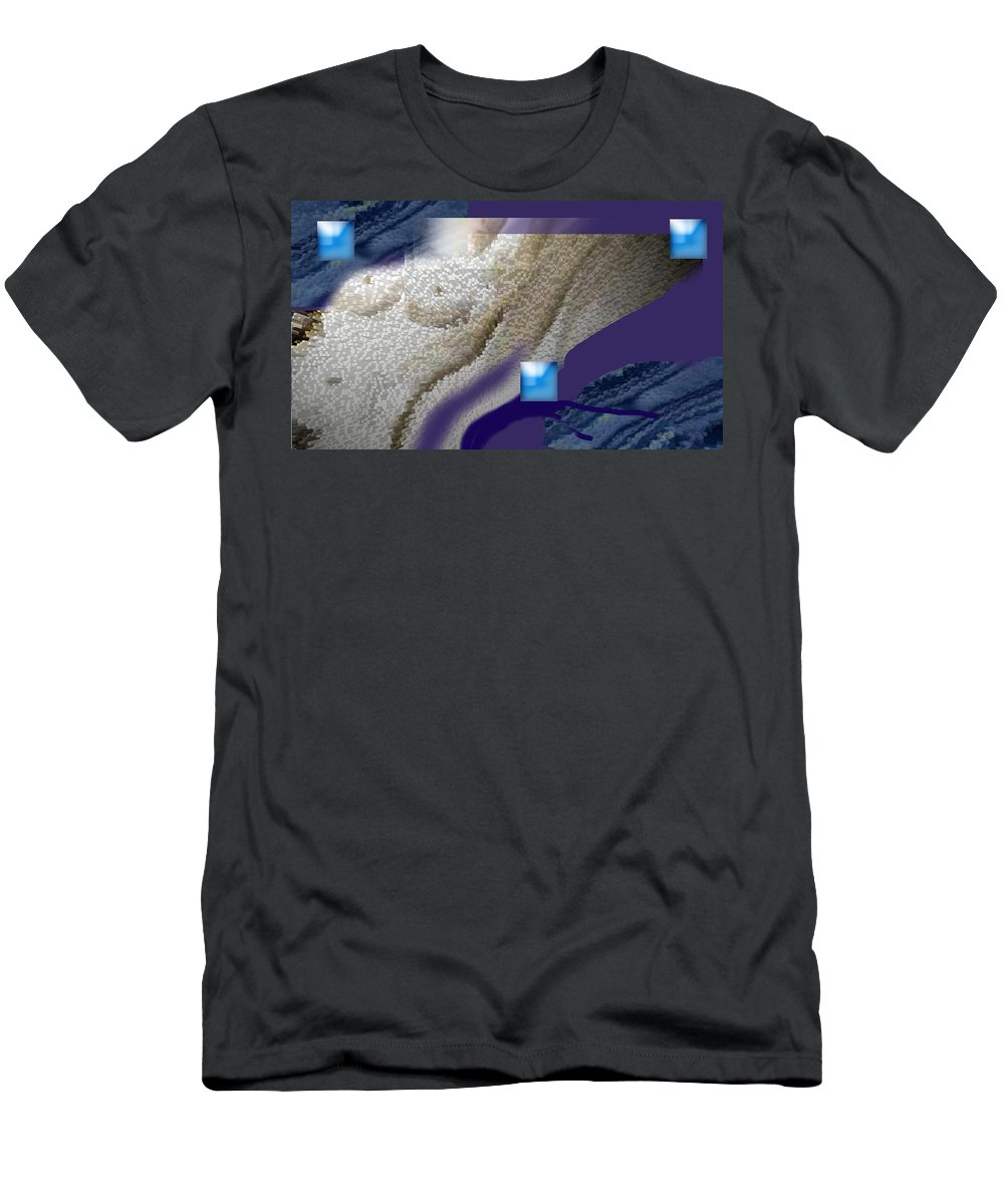 Abstract Men's T-Shirt (Athletic Fit) featuring the digital art Prelude To A Dream by Steve Karol