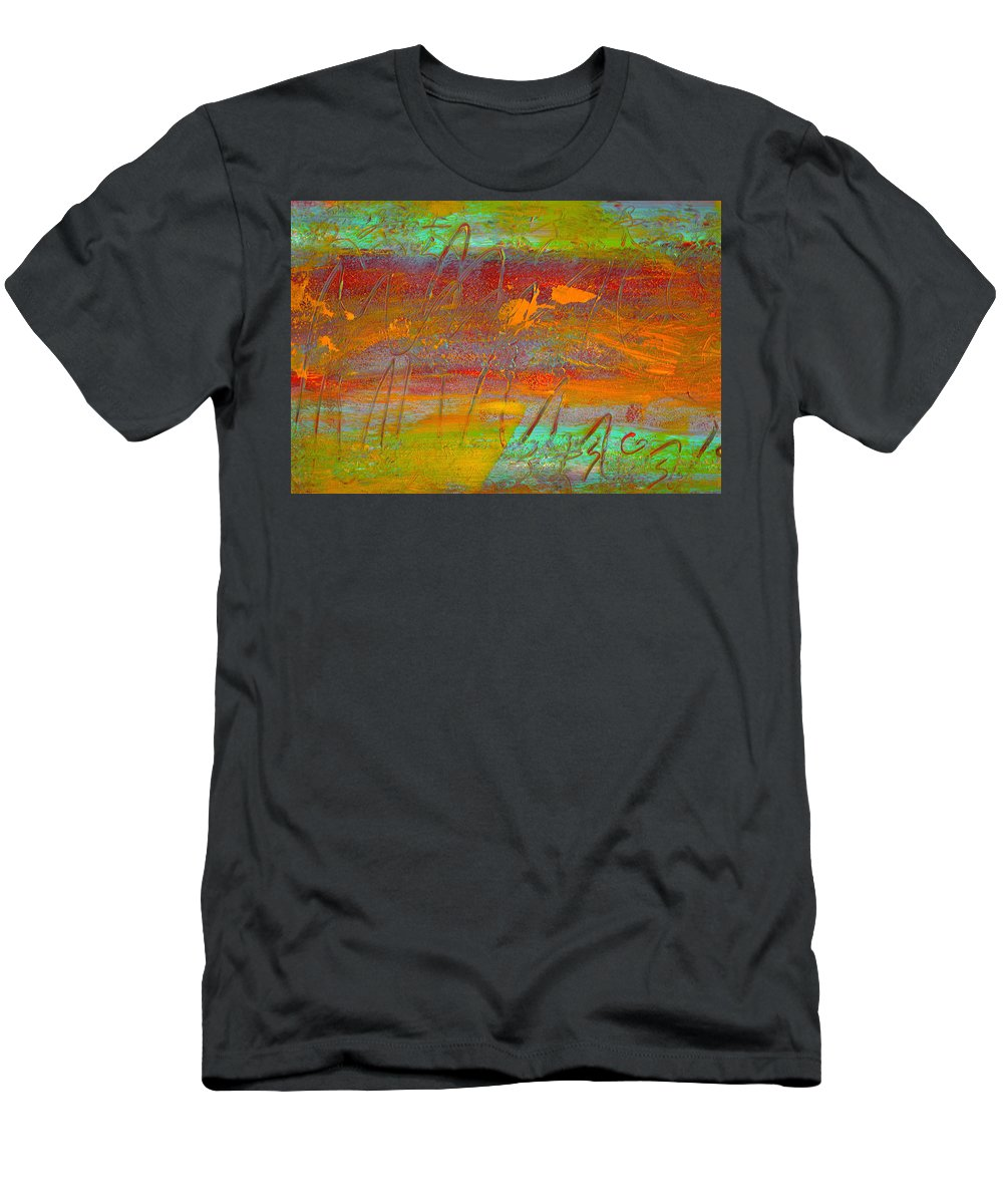 Abstract Men's T-Shirt (Athletic Fit) featuring the painting Prelude To A Sigh by Wayne Potrafka