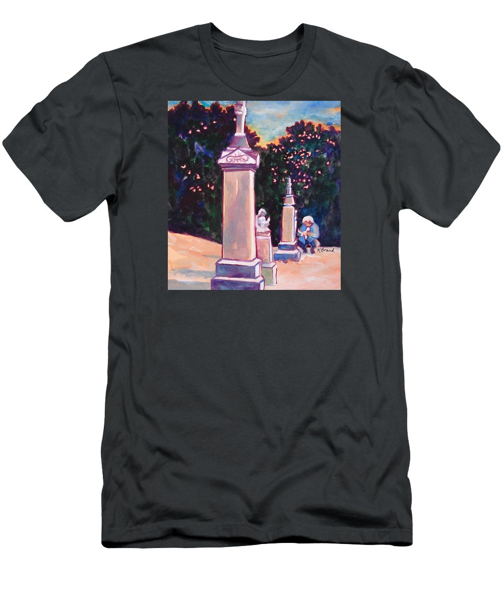 Painting Men's T-Shirt (Athletic Fit) featuring the painting Present Meets Past by Kathy Braud
