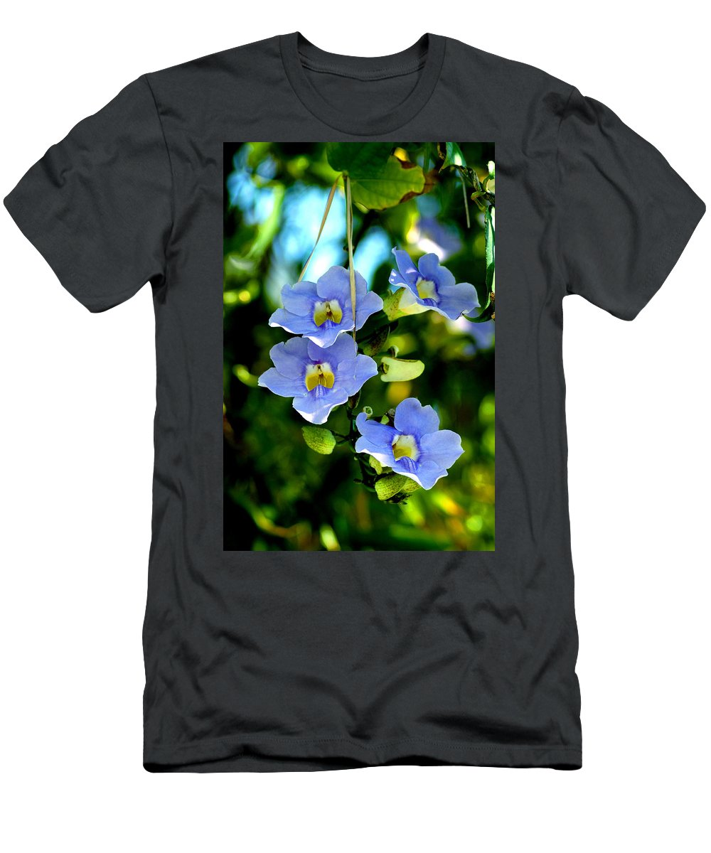 Flower Men's T-Shirt (Athletic Fit) featuring the photograph Pretty In Blue by Susanne Van Hulst