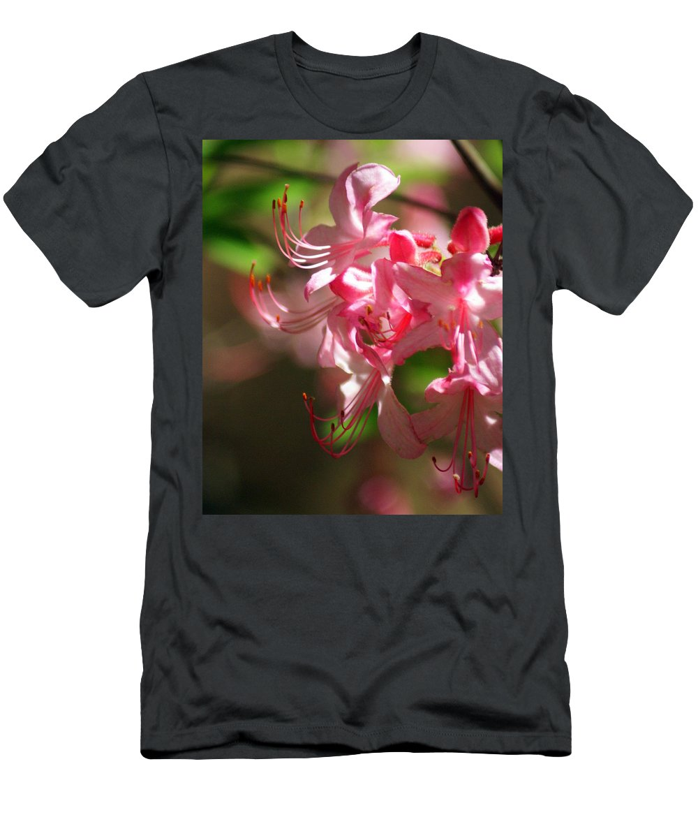Flowers Men's T-Shirt (Athletic Fit) featuring the photograph Pretty Pink by Marty Koch