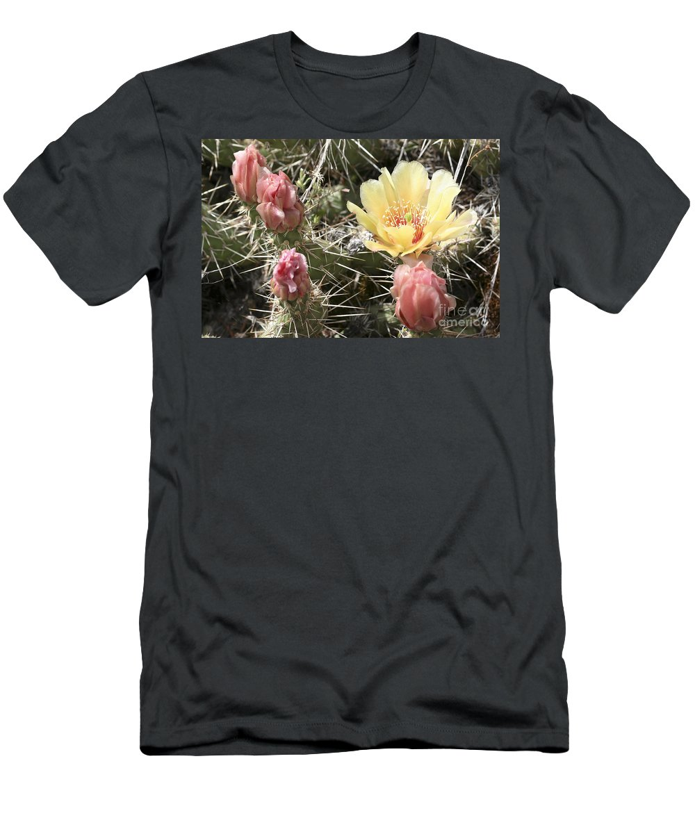 Prickly Pear Cactus Men's T-Shirt (Athletic Fit) featuring the photograph Prickly Pear Cactus by Teresa Zieba