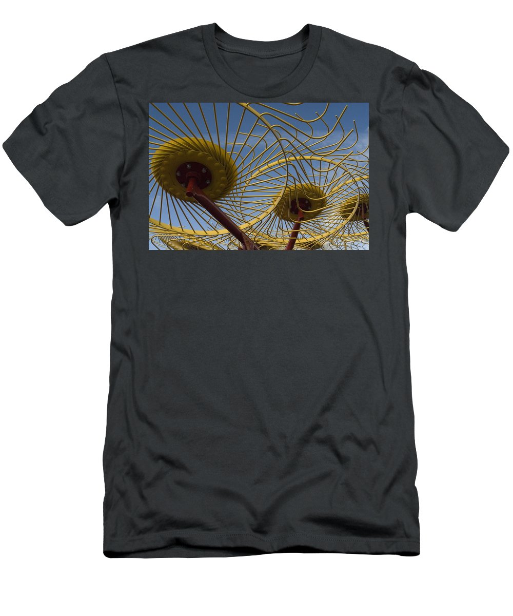 Farm Men's T-Shirt (Athletic Fit) featuring the photograph Primary 1 by Sara Stevenson