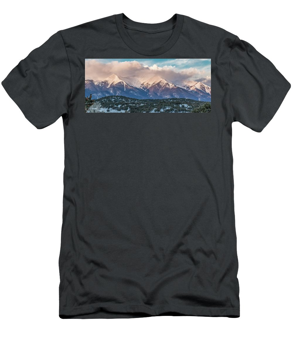 Men's T-Shirt (Athletic Fit) featuring the photograph Princeton Panorama 10 by Logan Myers