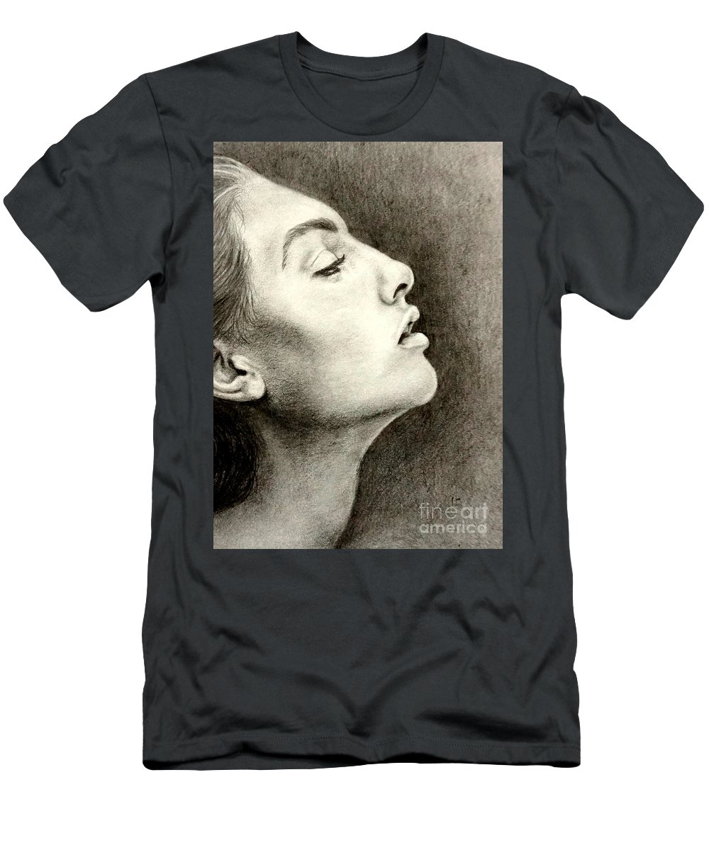 Artwork Men's T-Shirt (Athletic Fit) featuring the drawing Breathless by Georgia's Art Brush