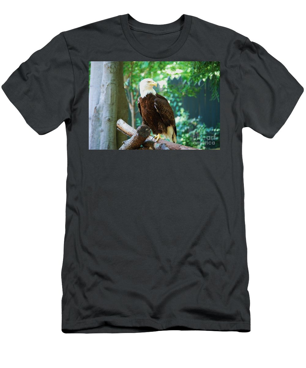 Wildlife Men's T-Shirt (Athletic Fit) featuring the photograph Proud Eagle by Eric Liller