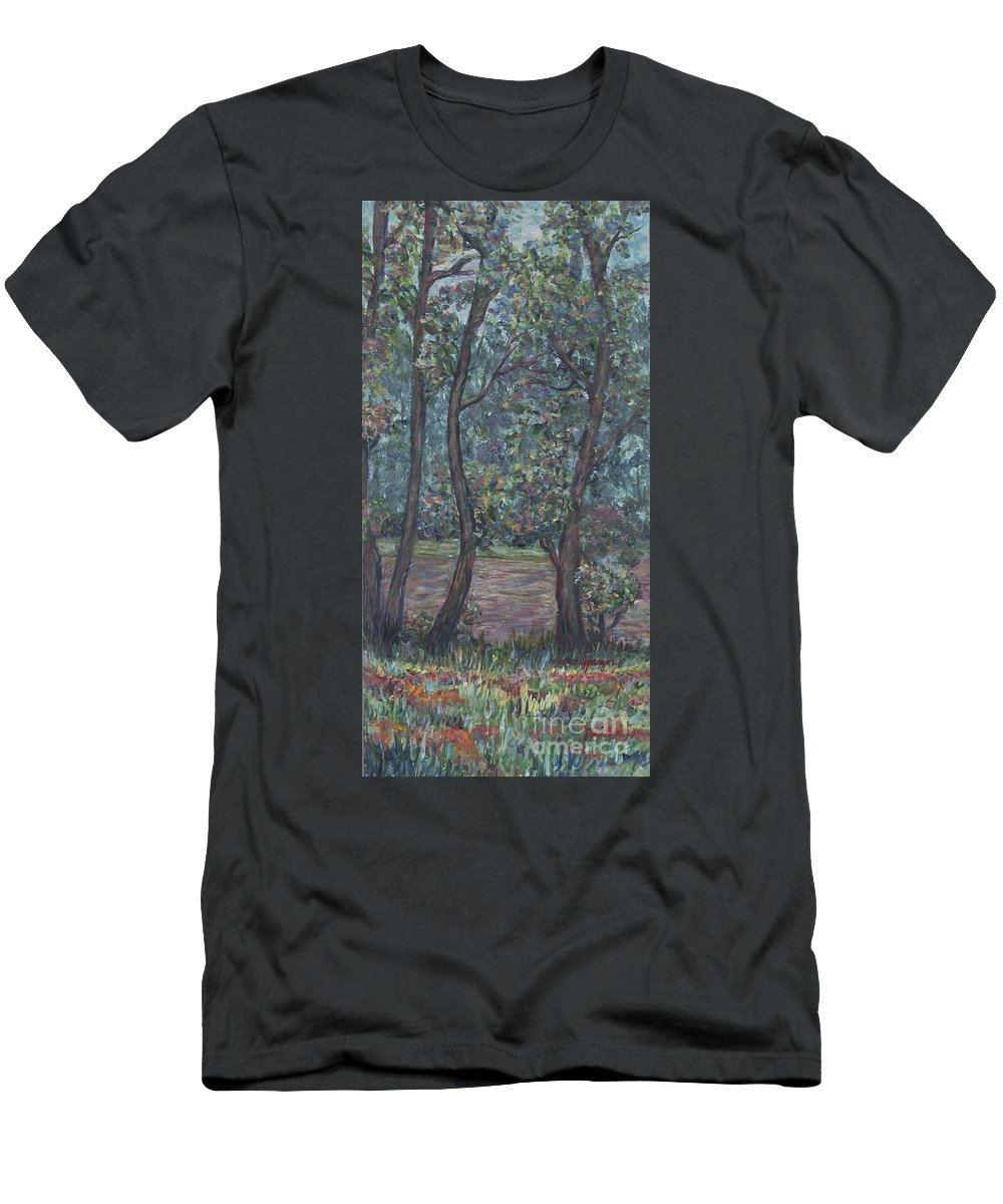 Landscape Men's T-Shirt (Athletic Fit) featuring the painting Provence Flowers by Nadine Rippelmeyer