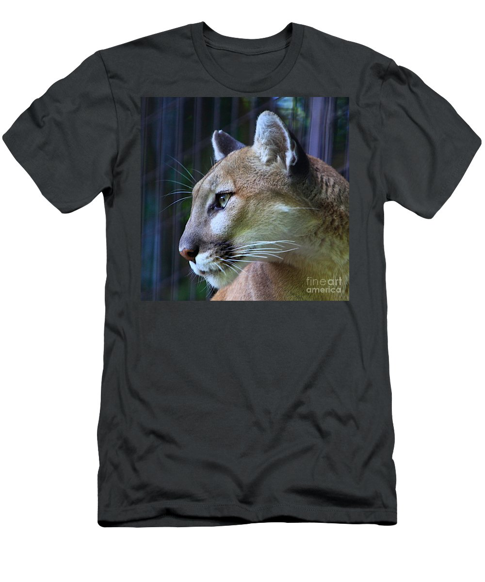 Cat Art Men's T-Shirt (Athletic Fit) featuring the photograph Puma by Robert Pearson