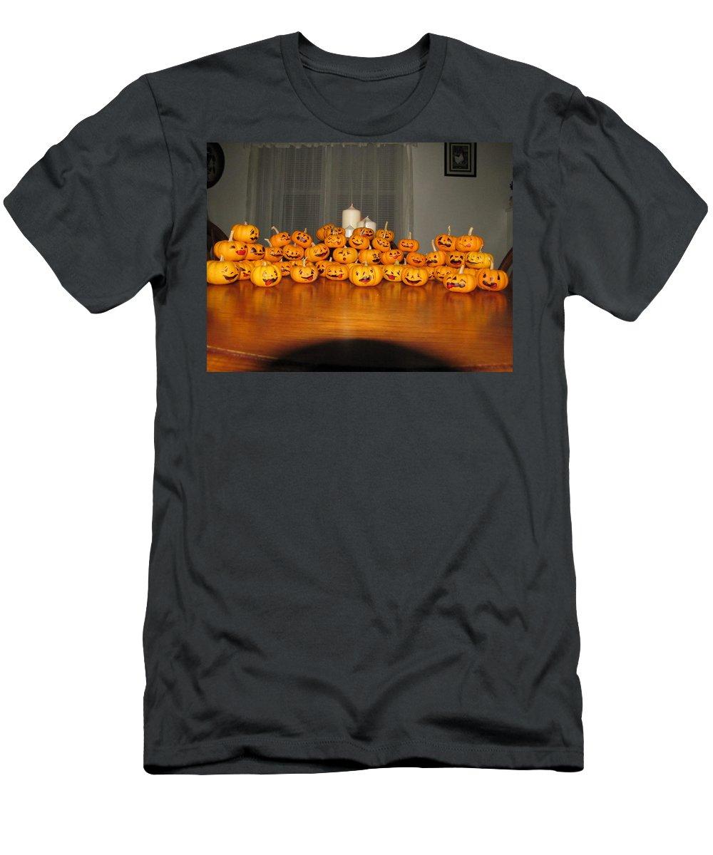 Pumpkins Men's T-Shirt (Athletic Fit) featuring the photograph Pumpkins by Michael TMAD Finney