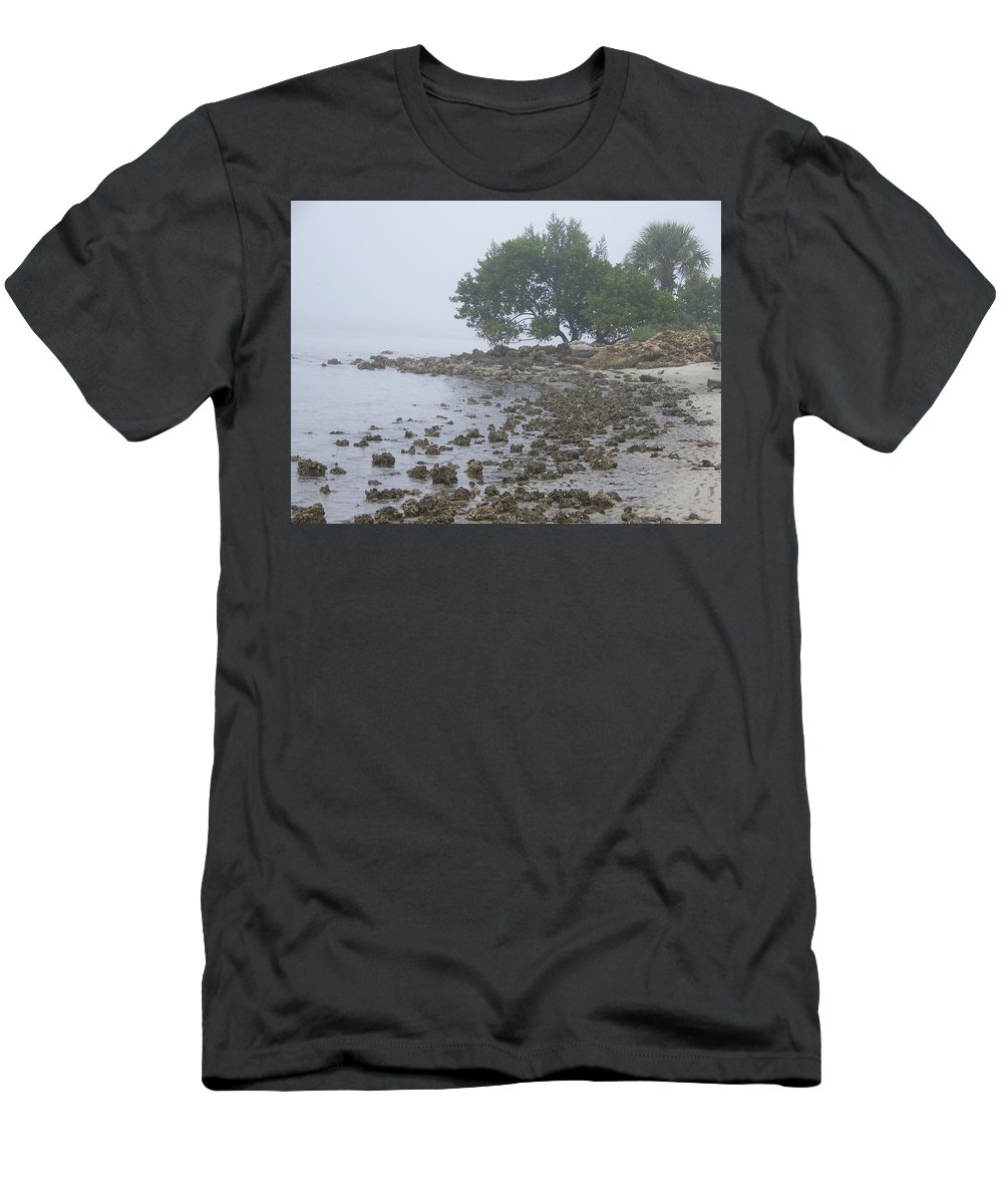 Mist Men's T-Shirt (Athletic Fit) featuring the photograph Punta Gorda by Laurie Paci