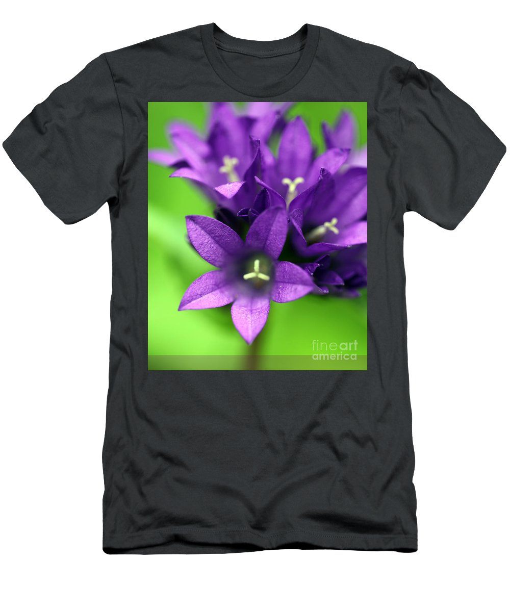 Floral Men's T-Shirt (Athletic Fit) featuring the photograph Purple Blooms by Amanda Barcon