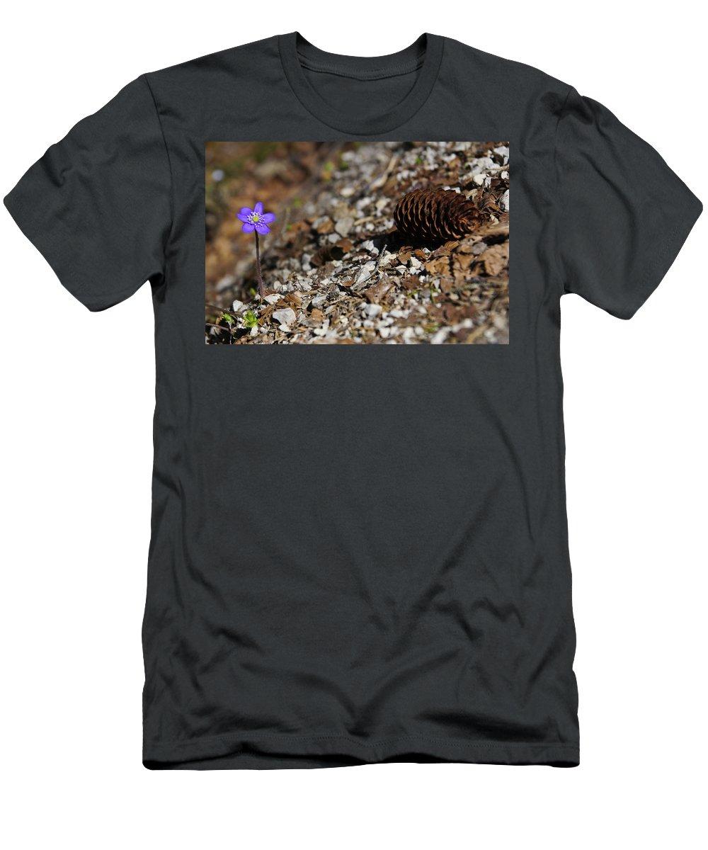 Purple Men's T-Shirt (Athletic Fit) featuring the photograph Purple by Brian Kamprath