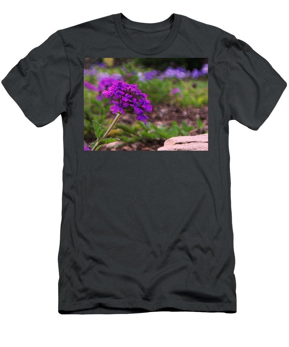 Purple Men's T-Shirt (Athletic Fit) featuring the painting Purple Flower by Eric Schiabor