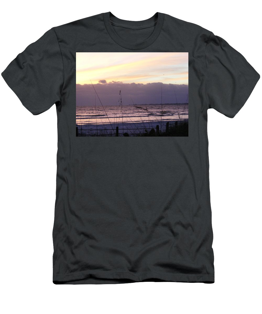 Landscape Men's T-Shirt (Athletic Fit) featuring the photograph Purple Haze by Ed Smith