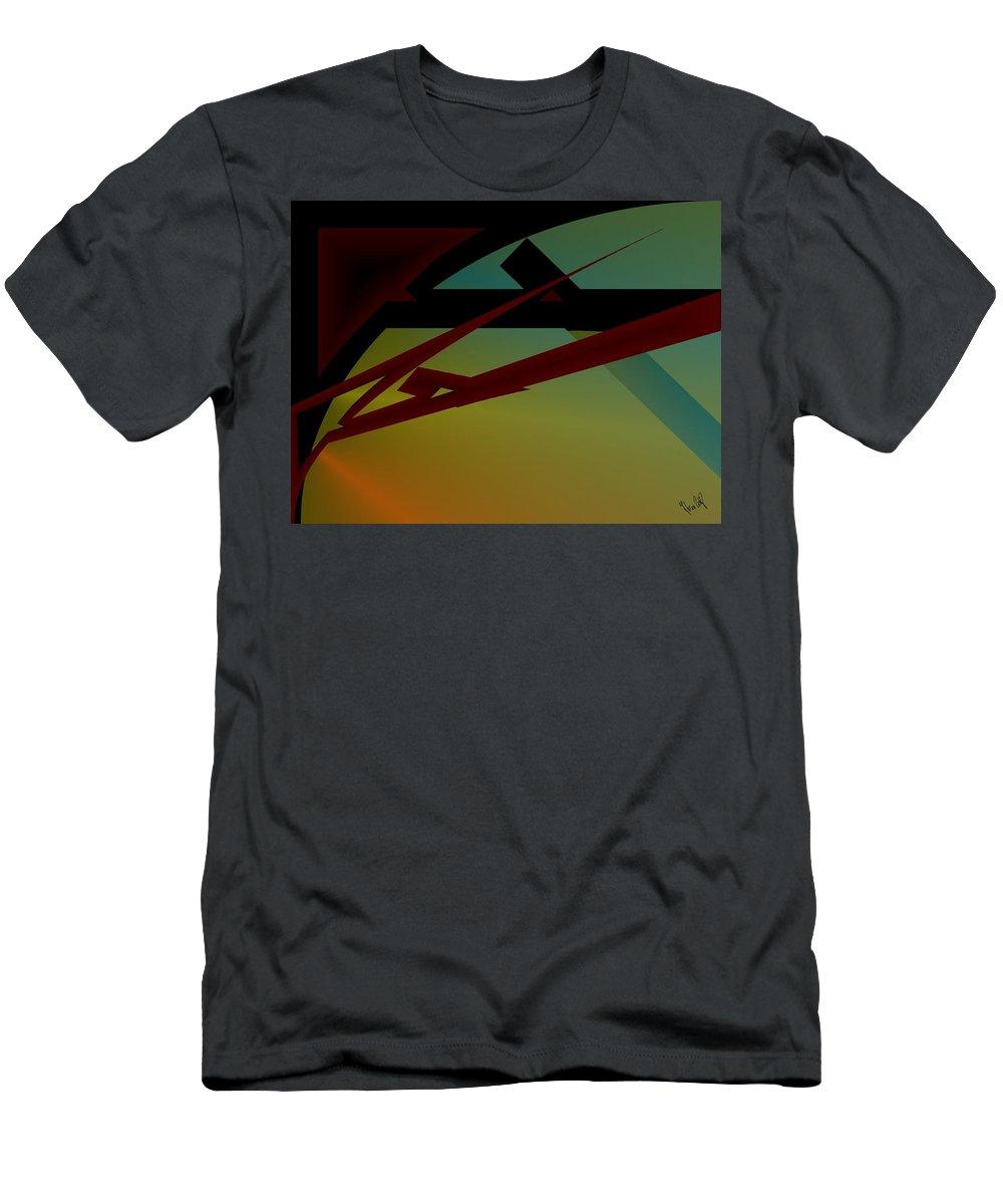 Quarter Men's T-Shirt (Athletic Fit) featuring the digital art Quarter by Helmut Rottler