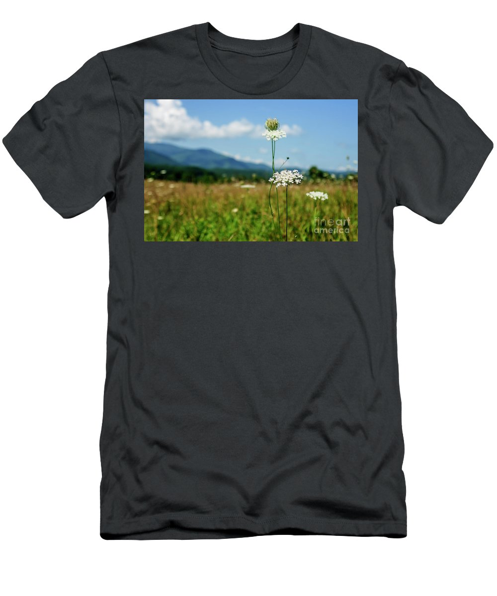 2016 Men's T-Shirt (Athletic Fit) featuring the photograph Queen Ann's Lace by Larry Braun
