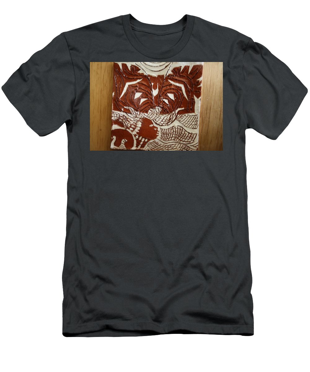 Jesus Men's T-Shirt (Athletic Fit) featuring the ceramic art Queen Esther - Tile by Gloria Ssali