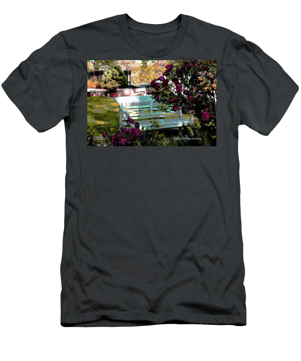 Garden Men's T-Shirt (Athletic Fit) featuring the photograph Quiet And At Peace by Suzan Madison Casey