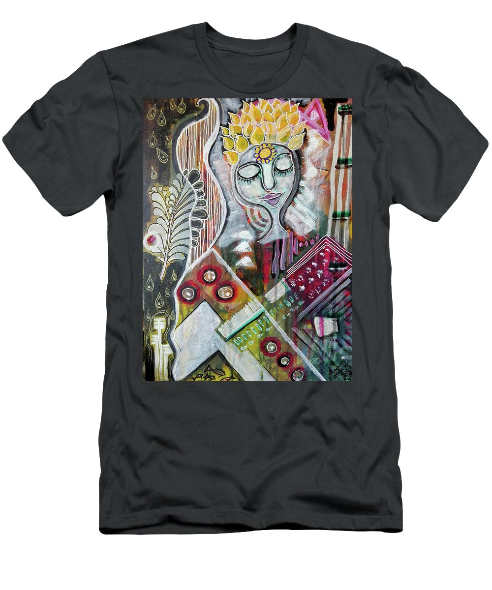 Bliss Men's T-Shirt (Athletic Fit) featuring the mixed media Quiet Bliss by Mimulux patricia No
