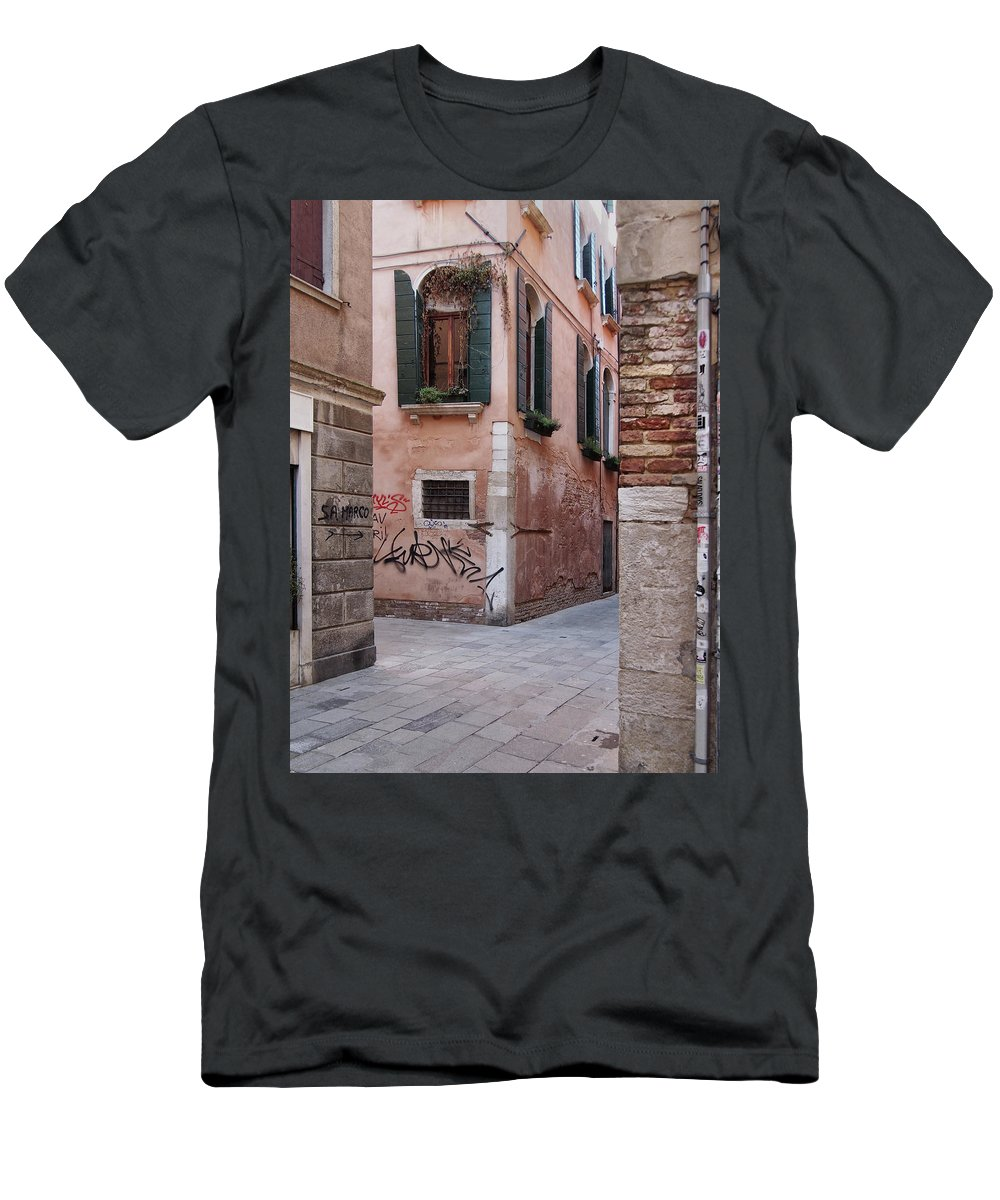 Venice Men's T-Shirt (Athletic Fit) featuring the photograph Quiet Corner In Venice by Philip Openshaw