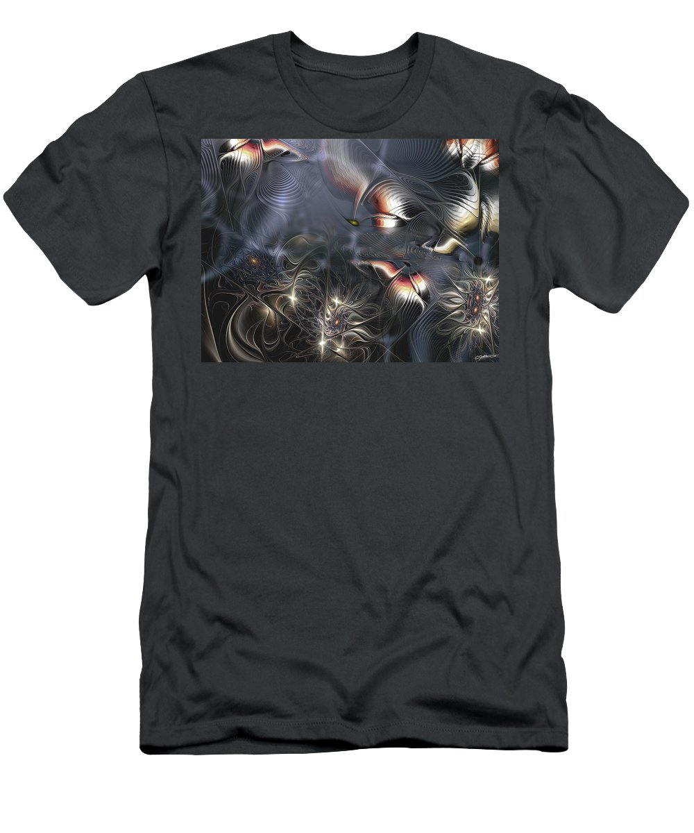 Abstract Men's T-Shirt (Athletic Fit) featuring the digital art Quixotic Cerebrations by Casey Kotas