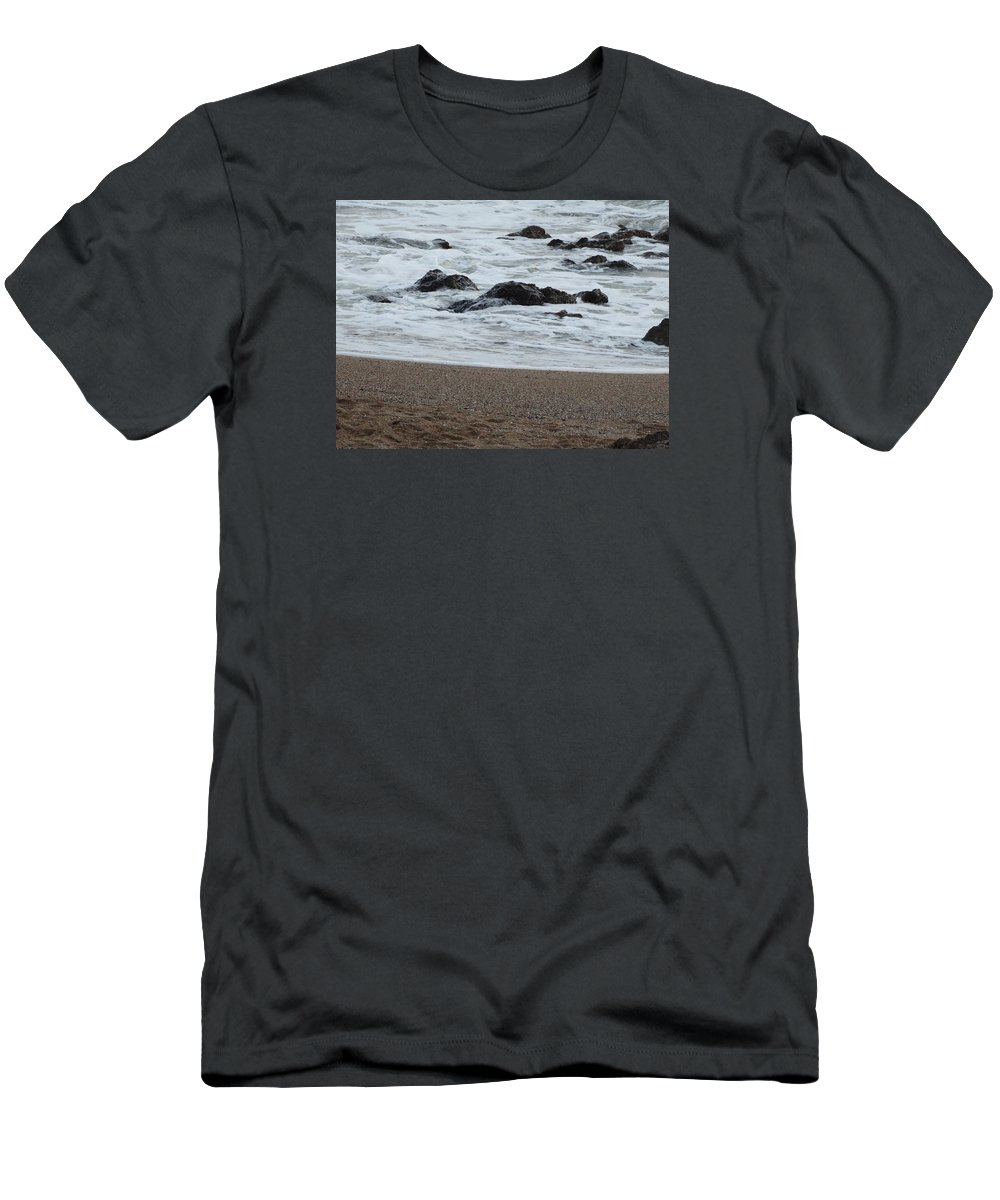 Photography Men's T-Shirt (Athletic Fit) featuring the photograph Raging Sea by Christian Hessel