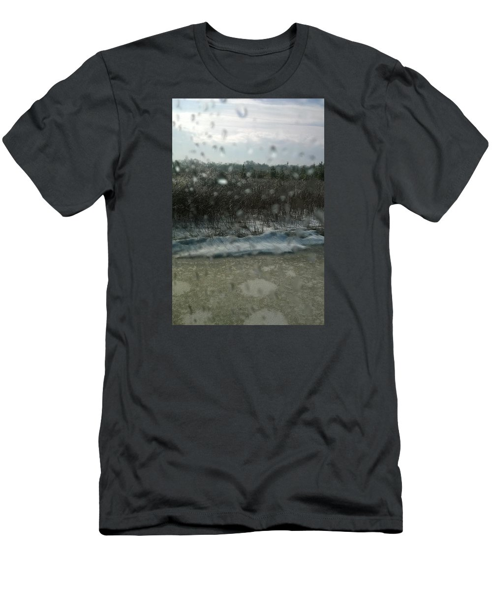 Rain Drops Men's T-Shirt (Athletic Fit) featuring the photograph Rain Drops by Michelle Caraballo