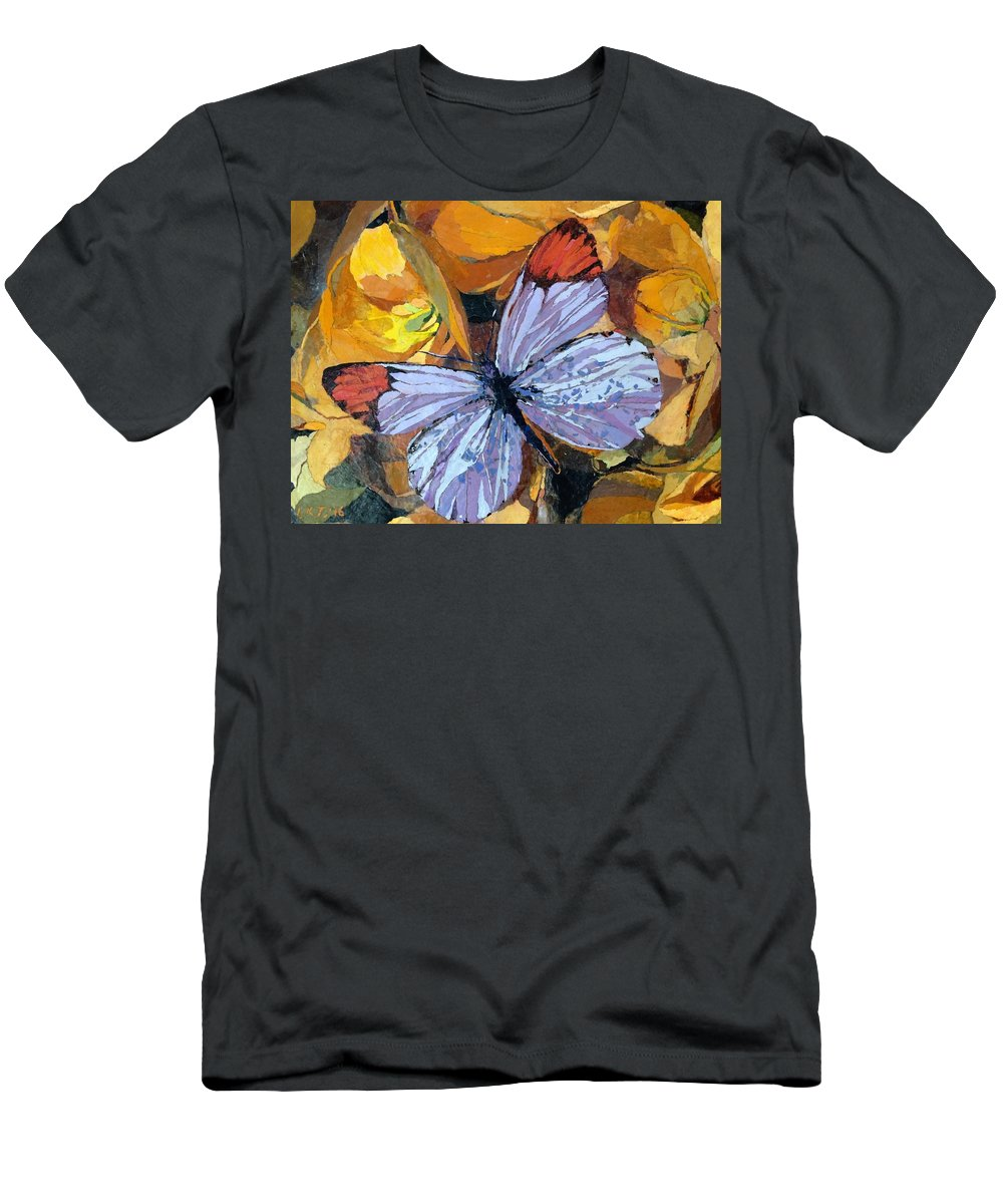 Butterfly T-Shirt featuring the painting Rainbow Butterfly, For Matisse by Leah Tomaino