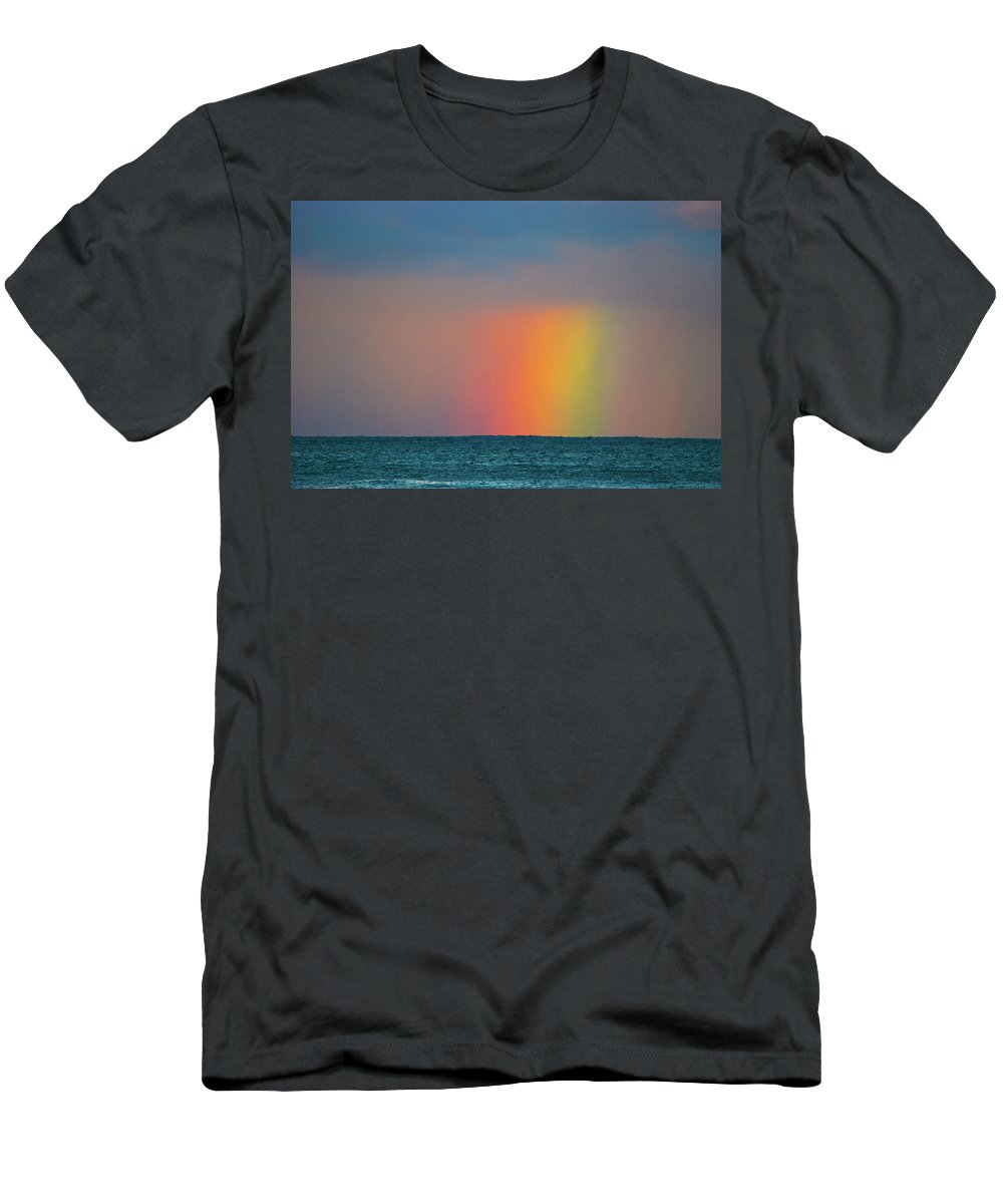 Rainbow Men's T-Shirt (Athletic Fit) featuring the photograph Rainbow by Camila Se