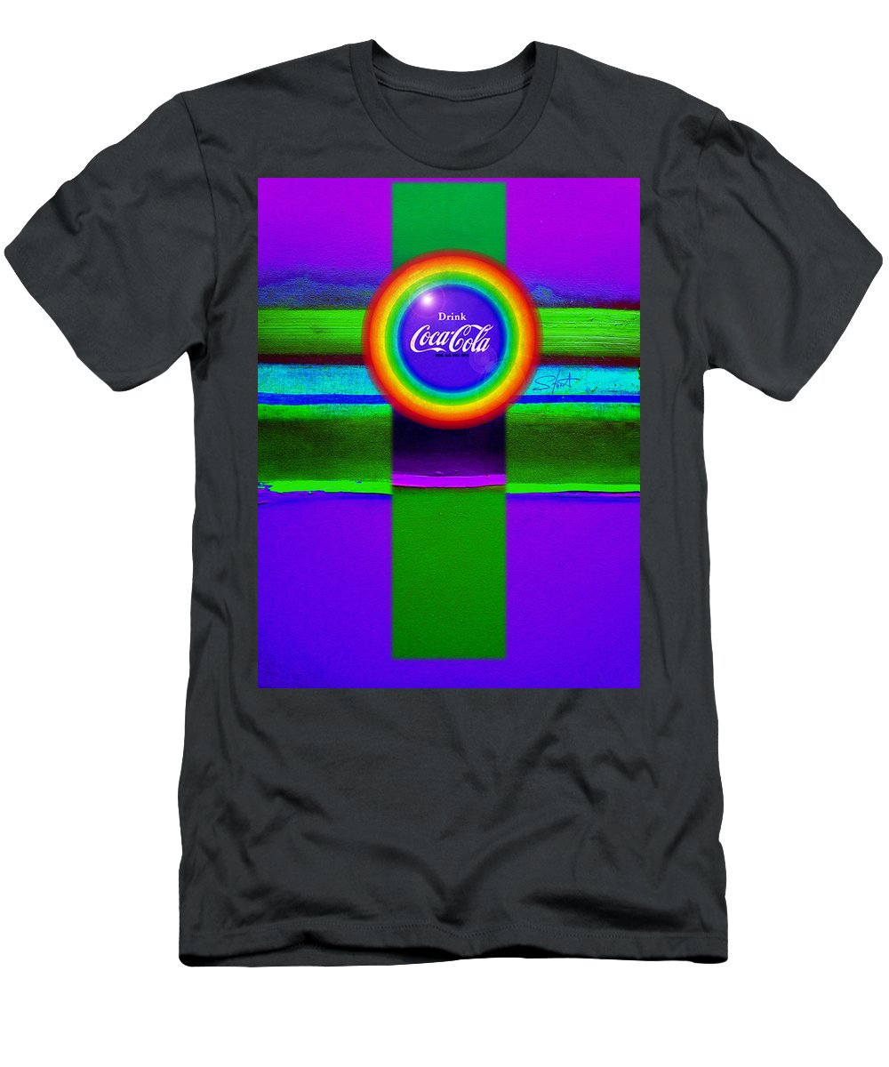 Violet Men's T-Shirt (Athletic Fit) featuring the painting Rainbow by Charles Stuart
