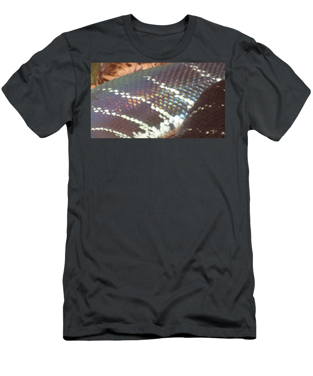 Snake Men's T-Shirt (Athletic Fit) featuring the photograph Rainbow Scales by Sarah Houser