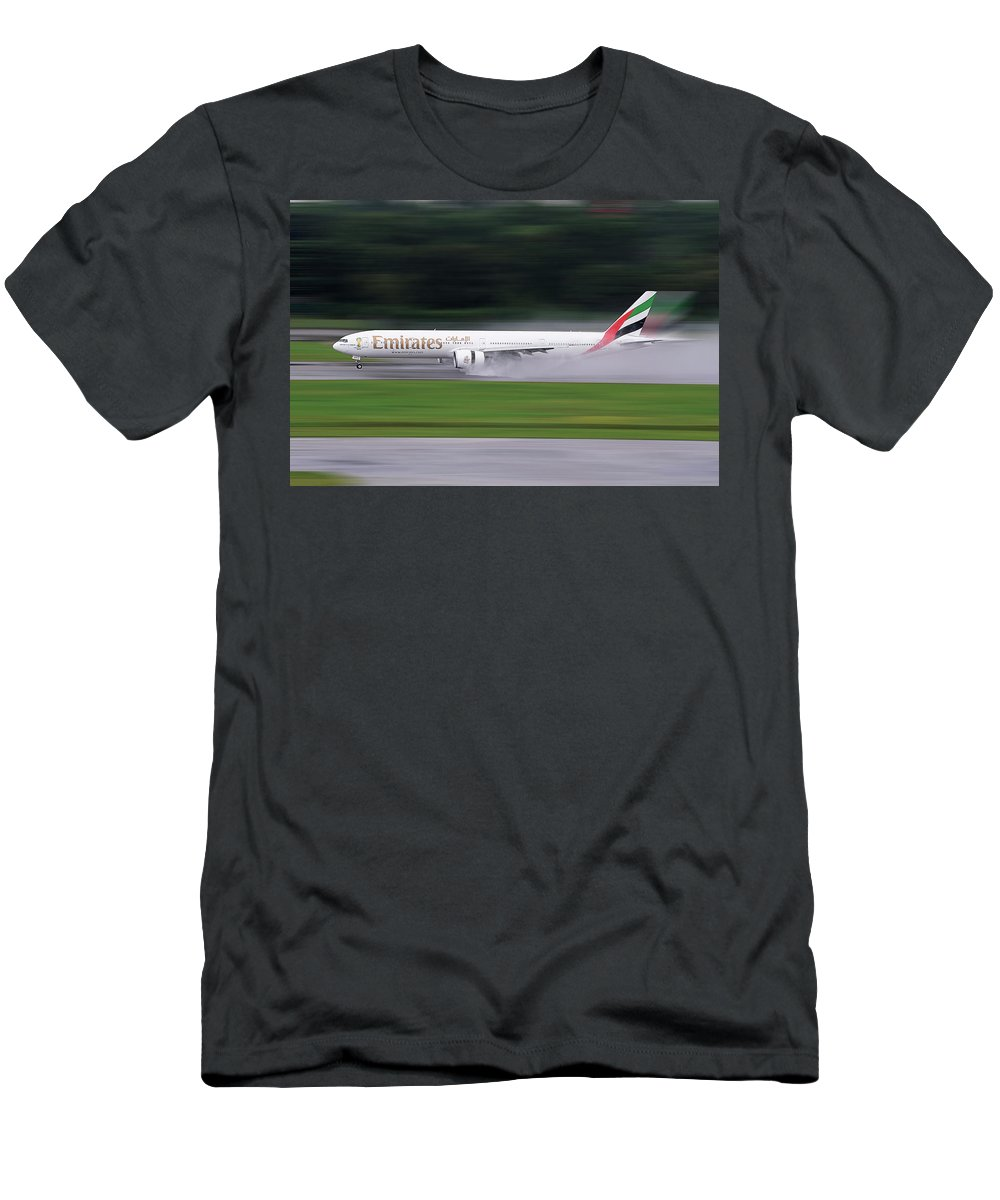Emirates Men's T-Shirt (Athletic Fit) featuring the photograph Rainy by Dr Frikkie Bekker
