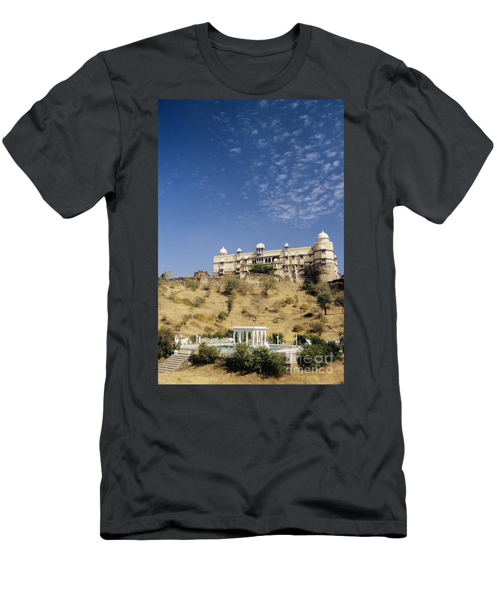 Ancient Men's T-Shirt (Athletic Fit) featuring the photograph Rajasthan Near Bari Sadri by Gloria and Richard Maschmeyer - Printscapes