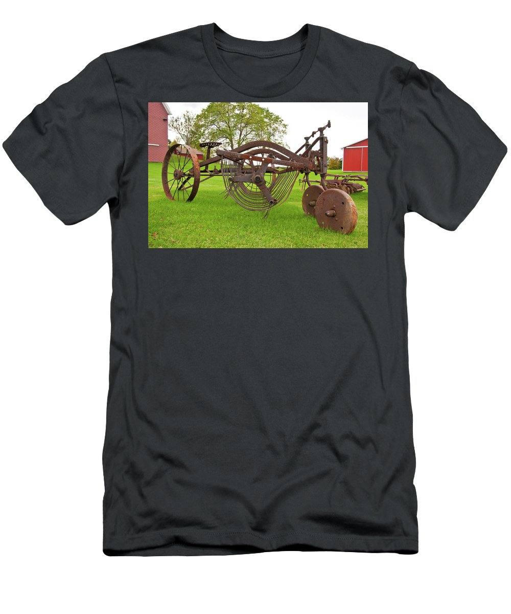 Barn Men's T-Shirt (Athletic Fit) featuring the photograph Rake 3119 by Guy Whiteley
