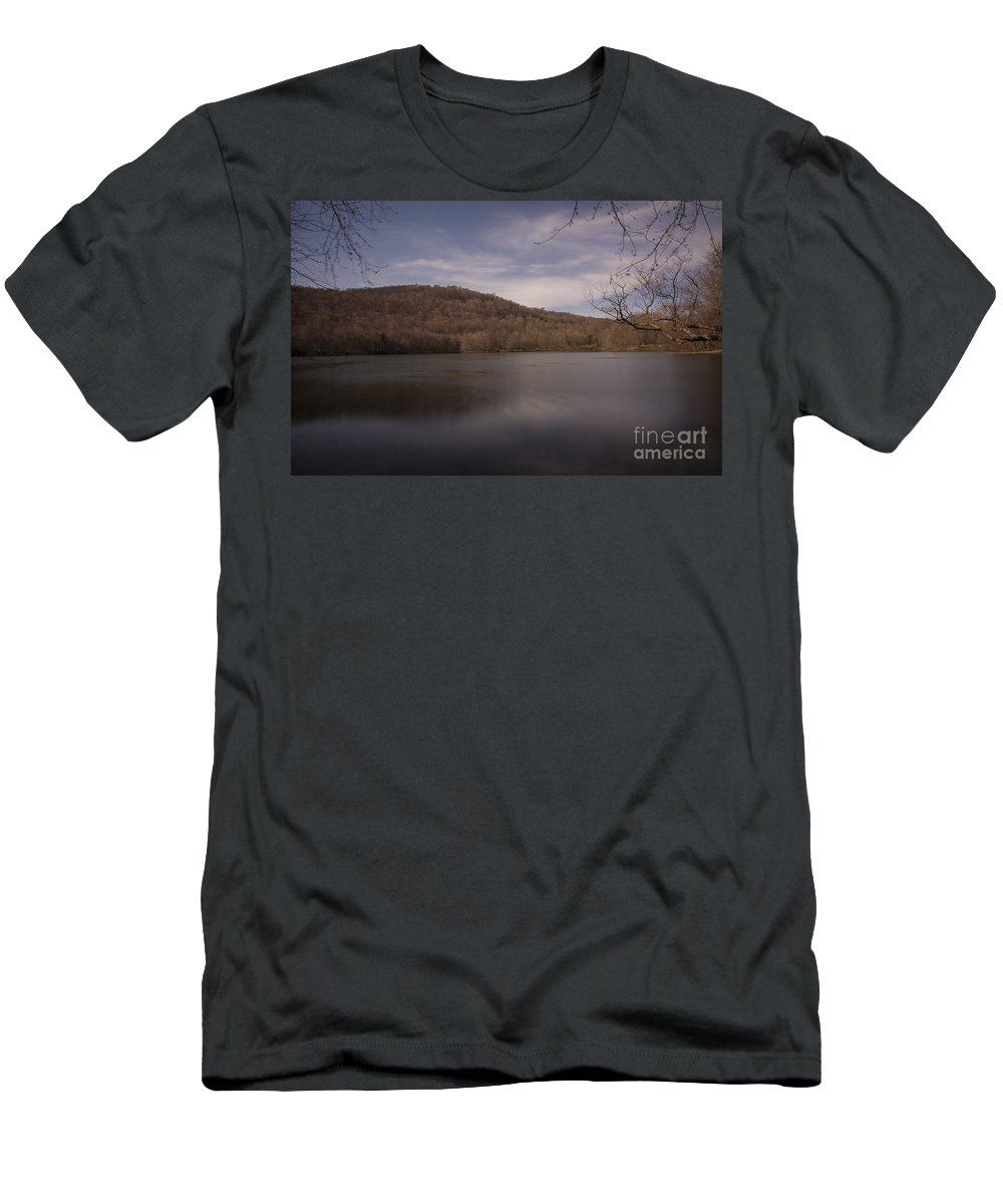 Lake Men's T-Shirt (Athletic Fit) featuring the photograph Ramapo Valley Lake by Reynaldo Brigantty