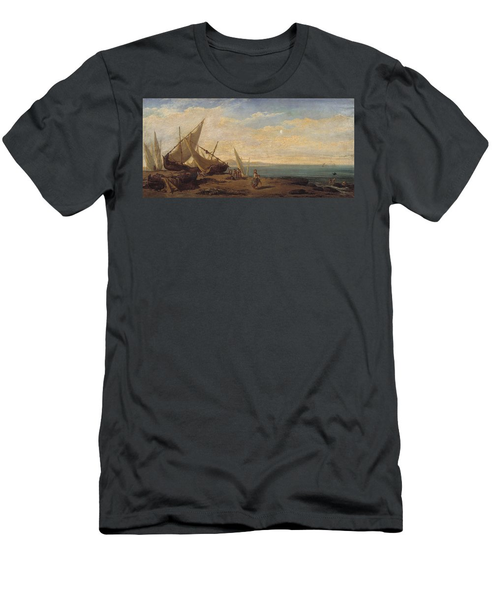 Ramon Marti I Alsina Men's T-Shirt (Athletic Fit) featuring the painting Ramon Marti by MotionAge Designs