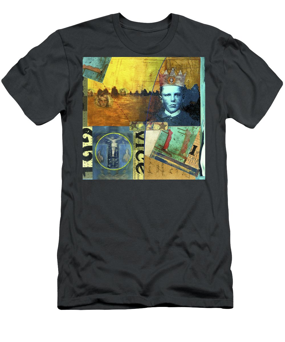 Collage Men's T-Shirt (Athletic Fit) featuring the painting Rampant by Dominic Piperata
