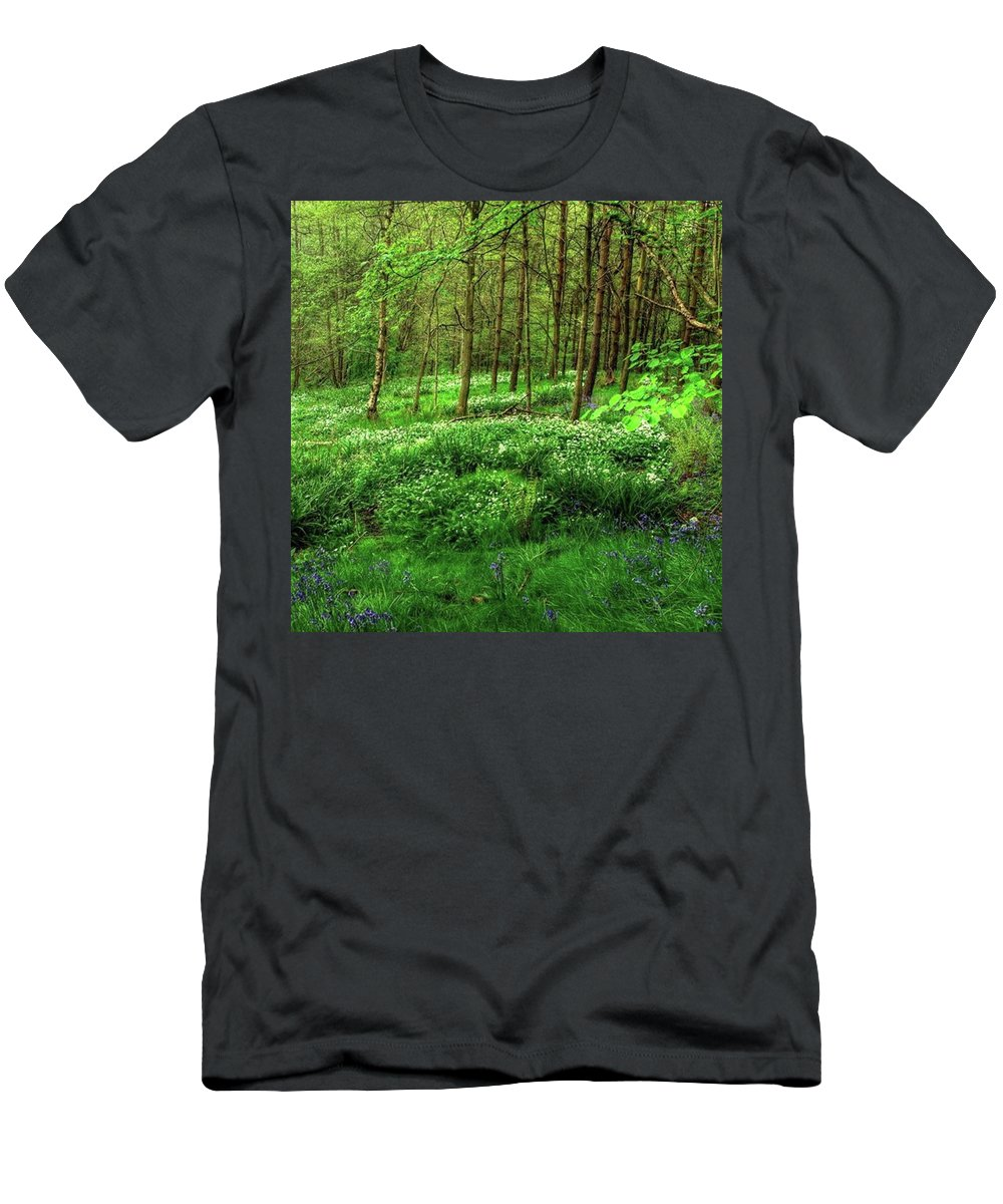 Nature T-Shirt featuring the photograph Ramsons And Bluebells, Bentley Woods by John Edwards