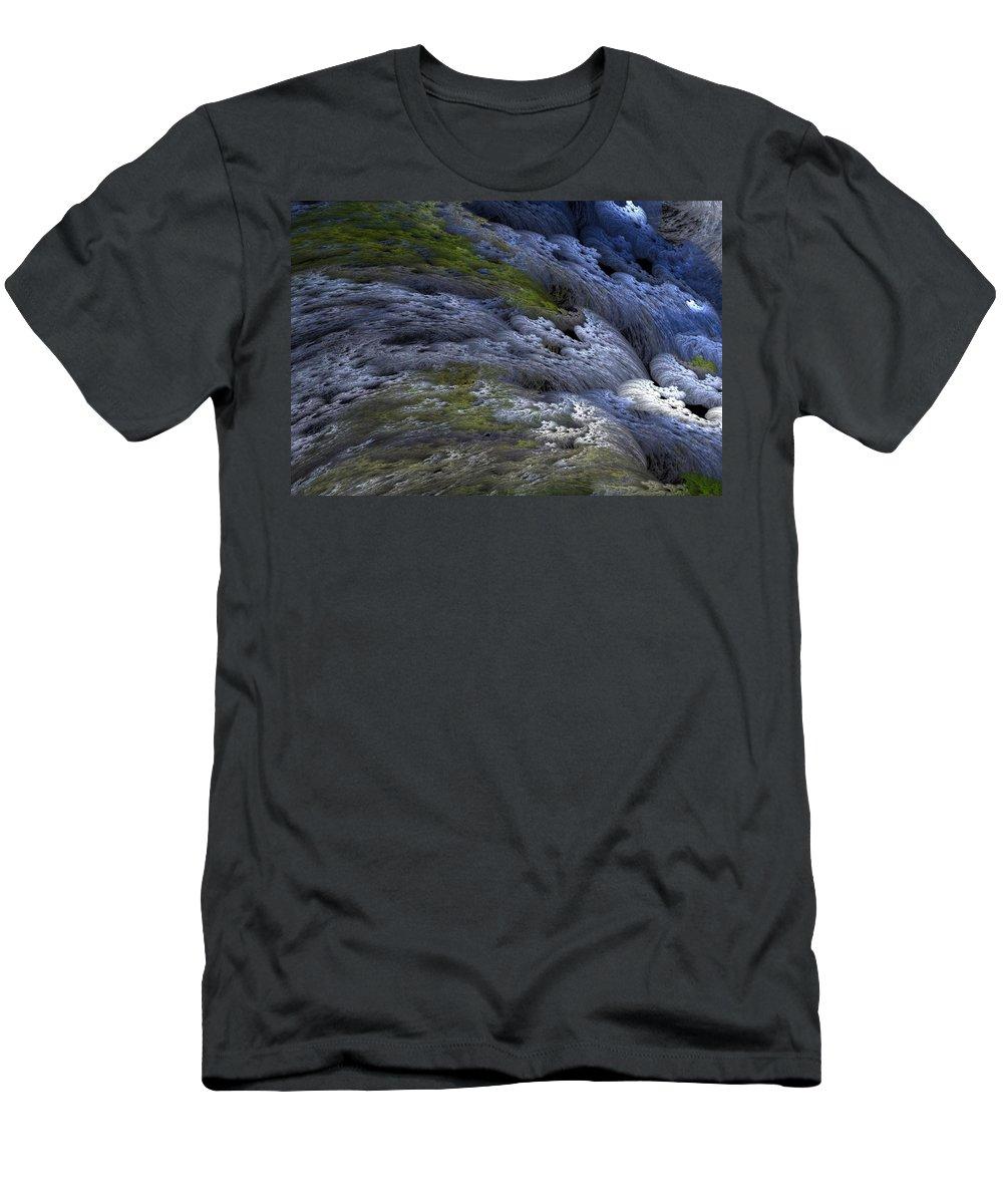 Digital Painting Men's T-Shirt (Athletic Fit) featuring the digital art Rapids by David Lane