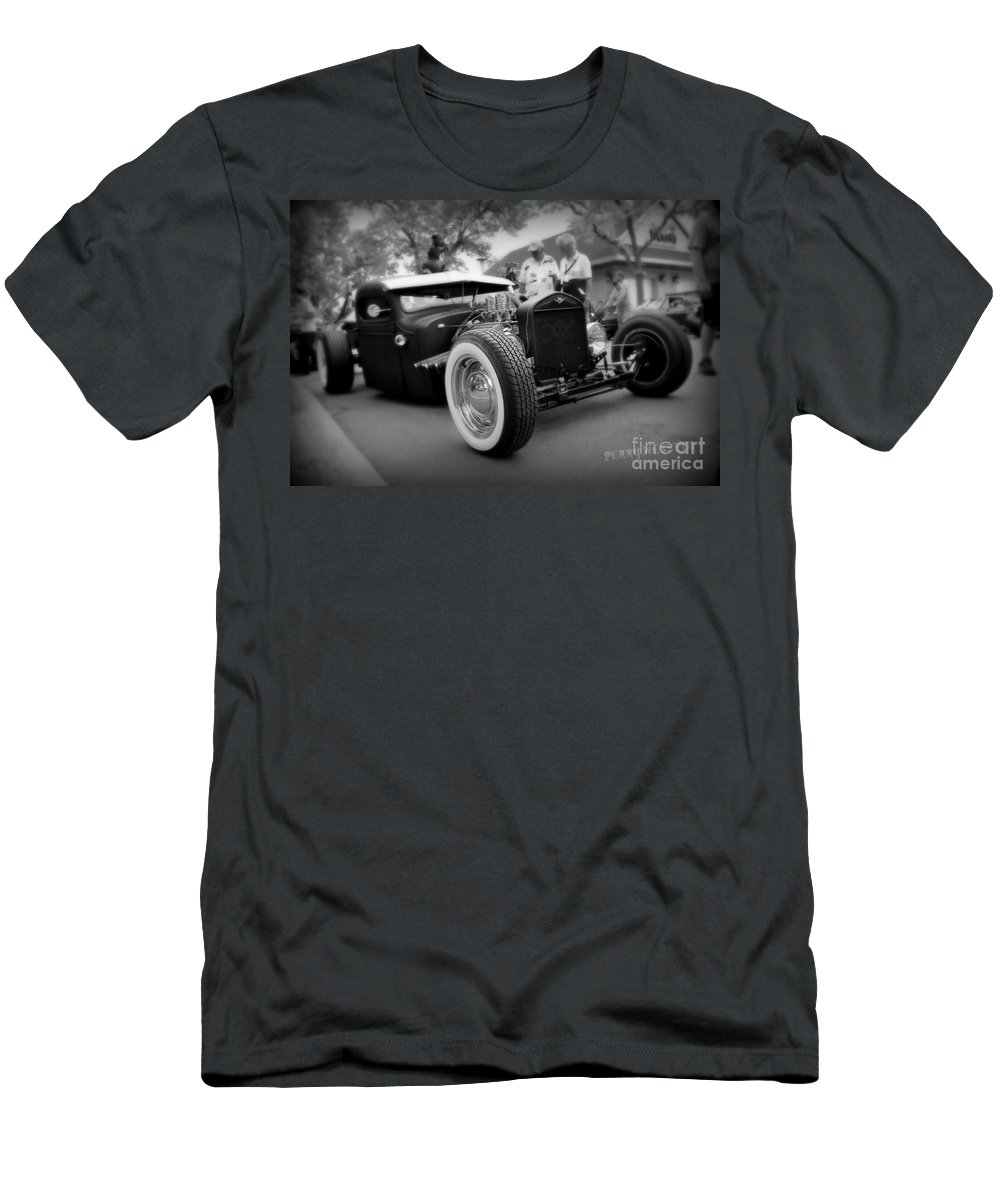 Rat Rod Men's T-Shirt (Athletic Fit) featuring the photograph Rat Rod Looker by Perry Webster